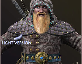 Dwarf Wizard Light Version 3D model