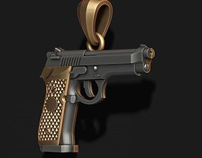 Gun pendant 3D