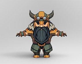dwarven fighter 3D asset