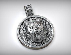 3D printable model Baribal Black Bear Amulet Pendant