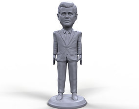 JFK stylized high quality 3D printable miniature