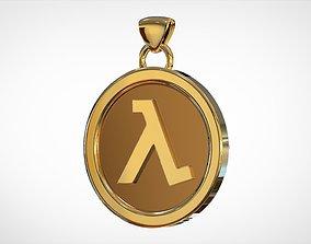 valve 3D print model Half-Life 1 Logo Pendant