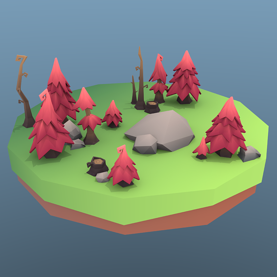 Low Poly Tree Package