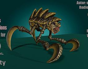 3D asset Shell Monster