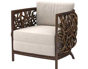 Palecek auburn lounge chair 3d model