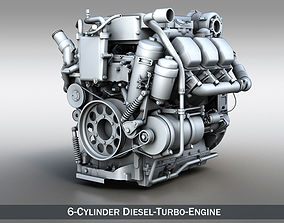 truck 3D model Truck diesel engine