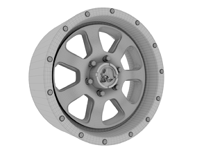 3D printable model Car Tire - Toyo Open Country RIMS