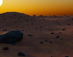 3D model Mars landscape