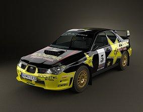 Subaru Impreza WRX STI 2006 3D model