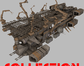 3D model Spaceships Collection 3