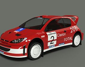 3D Peugeot 206 wrc 2002