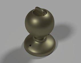 Round door handle 3D model