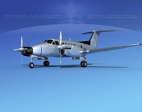 3D model Beechcraft UC-12Q Huron V10 US Army