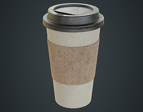 Paper Coffee Cup 2B 3D asset