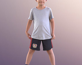 3D model 10910 Thilo - Little Boy Standing With Legs Apart
