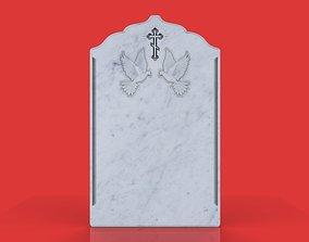 3D print model memorial tombstone