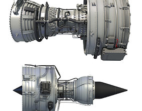 Turbofan Aircraft Engines Collection 3D model