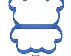 Panda cookie cutter for professional 3D printable model