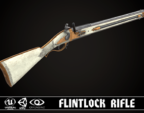 3D model Double-barreled Flintlock Rifle White