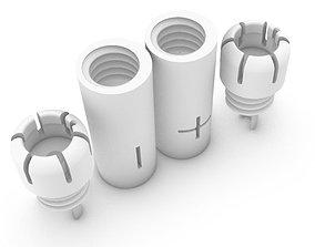 3D RCA chinch bullet plug