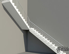 3D model L stair FREE