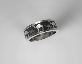3D printable model CAMEL JEWELLERY RING