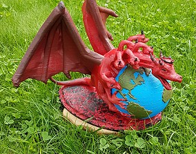 Dragon with eath 3D printable model