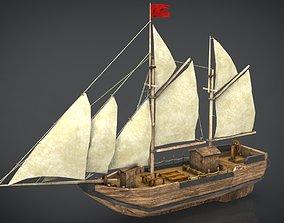3D PBR OLD SHIP ocean