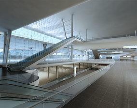 3D Airport Interior 01