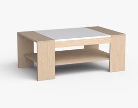 3D asset Yamaguchi coffee table white