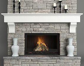 Stone Fireplace other 3D model