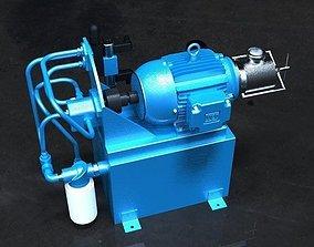 Bomba Hidraulica Hydraulic Pump 3D