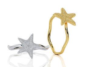 3D printable model Starfish Ring R F 0103