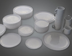 3D model KTC - Dish Set 01 - PBR Game Ready