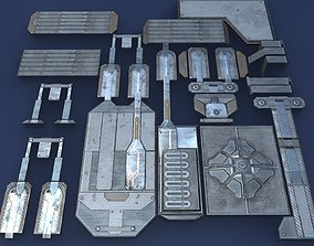 Sci-Fi architectural kit - Game Ready 3D model