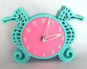 3D printable model creativity Clock Sea Horse