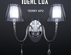 Sconce Ideal Lux TERRY AP2 3D