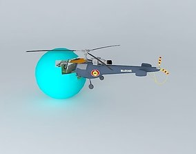 The Helicopter Crash Into The Sphere 3D