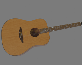 Acoustic Guitar 3D model rhythm