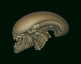 3D print model Xenomorph Alien biomechanical head
