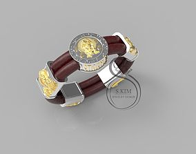 Details of bracelet and lock 3dprint 3D print model