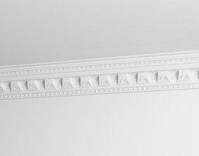 3D White Architecture Ornament