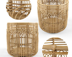 3D Medium Naga Rattan Baskets