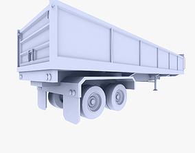 Truck Trailer 3 3D asset