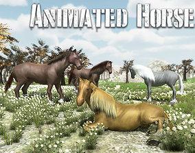 Animated Horse model Pack 3D asset