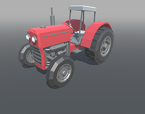 3D model Tractor Low Poly