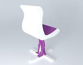 Wicker chair 3D purple