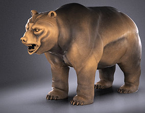 Wallstreet Bear Sculpture 3D
