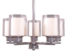 3D Design House Olso 5-Light Satin Nickel Chandelier