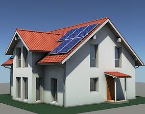 3D Residential Solar House